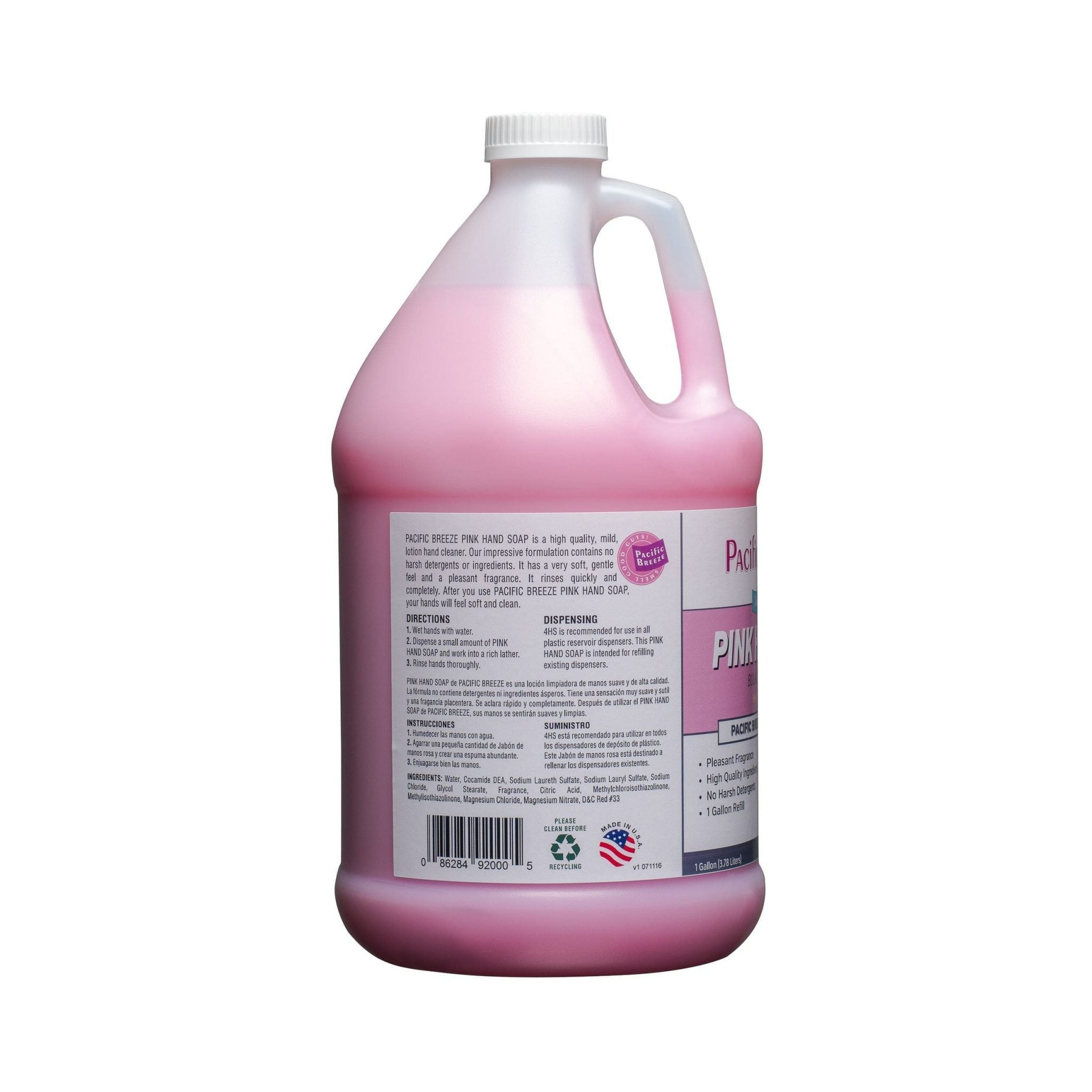 Pink Hand Soap with Honey Almond Scent