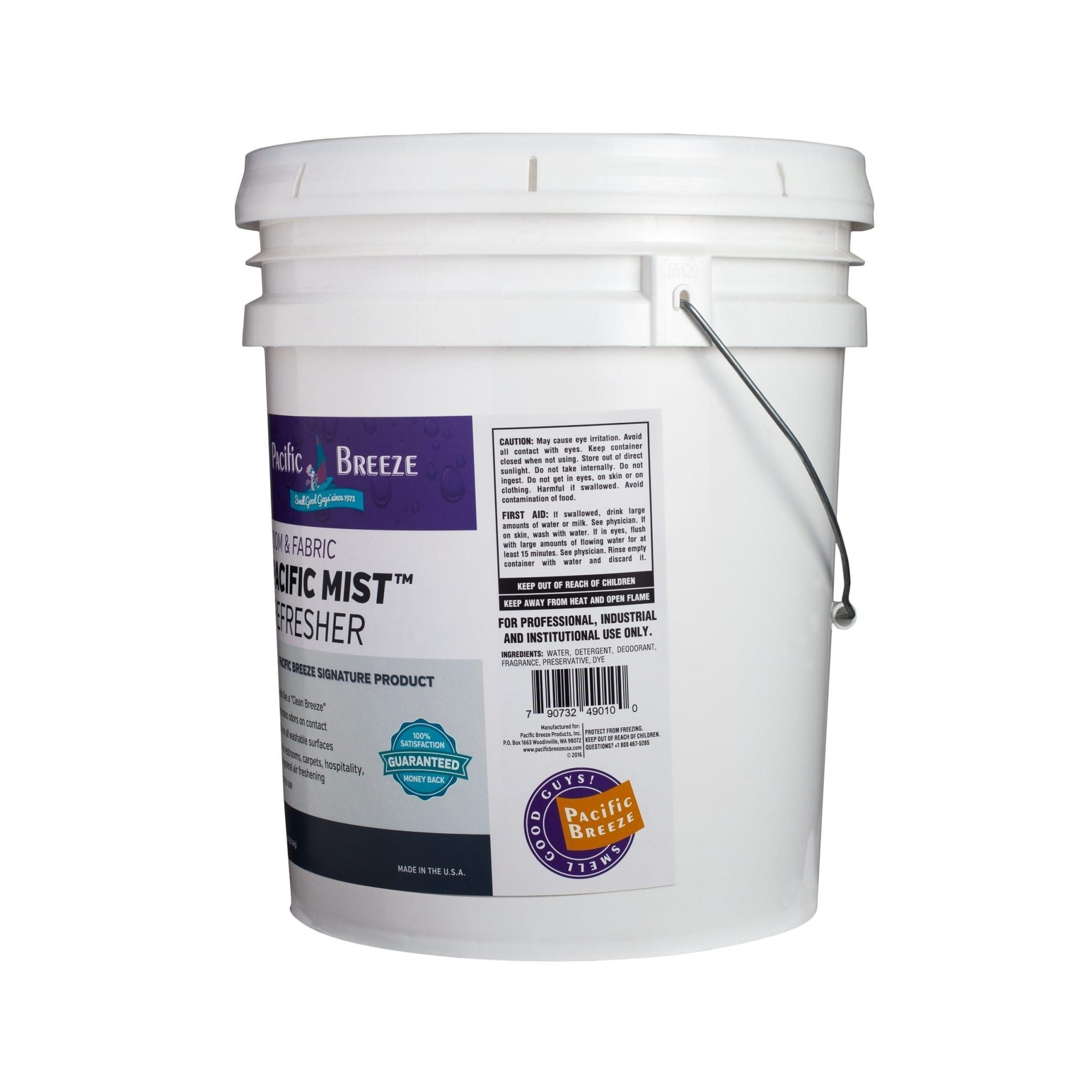 Pacific Mist™ Clean Breeze Room & Fabric Refresher - 5 Gallon Bucket