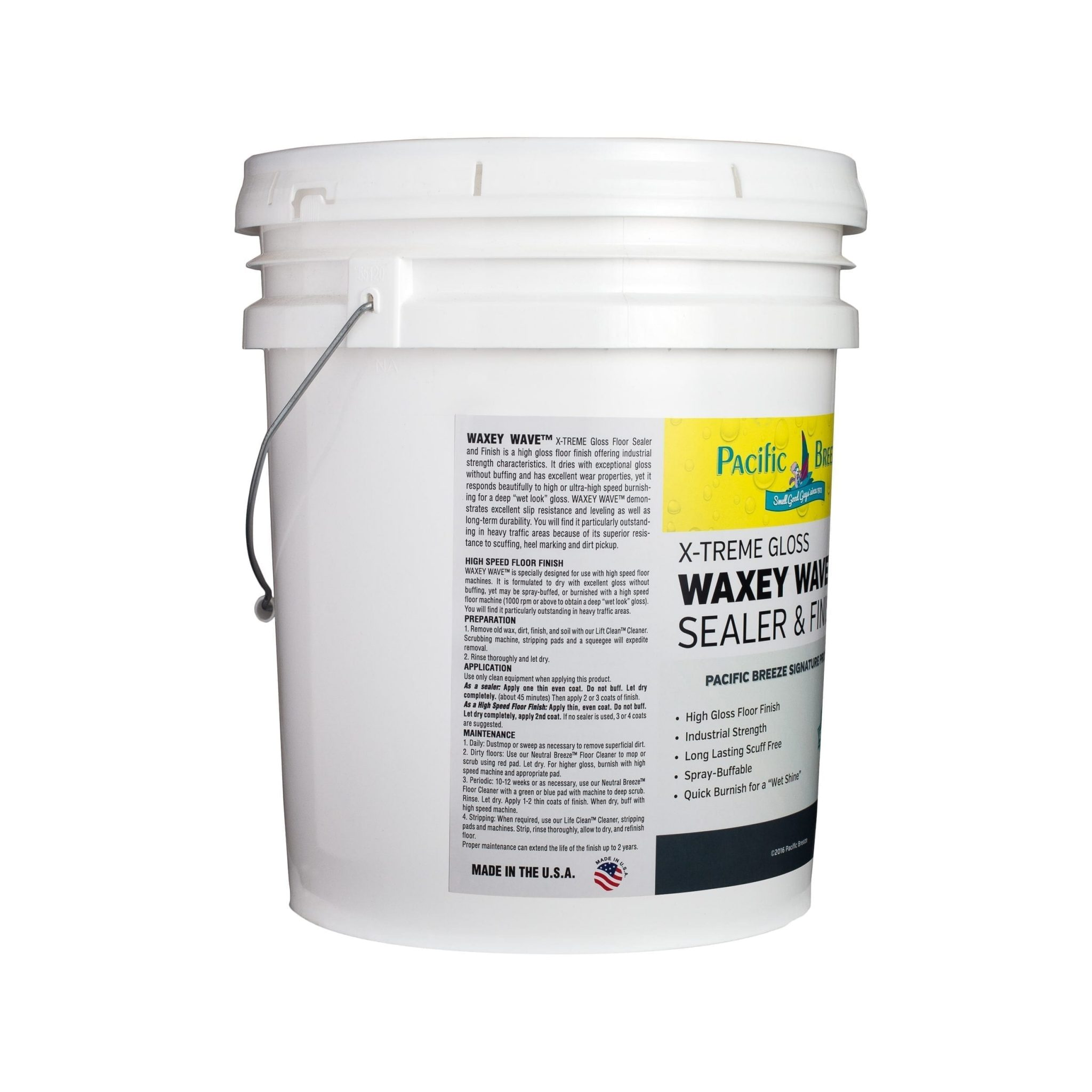 Waxey Wave™ X-TREME Gloss Floor Sealer and Finish -  5 Gallon
