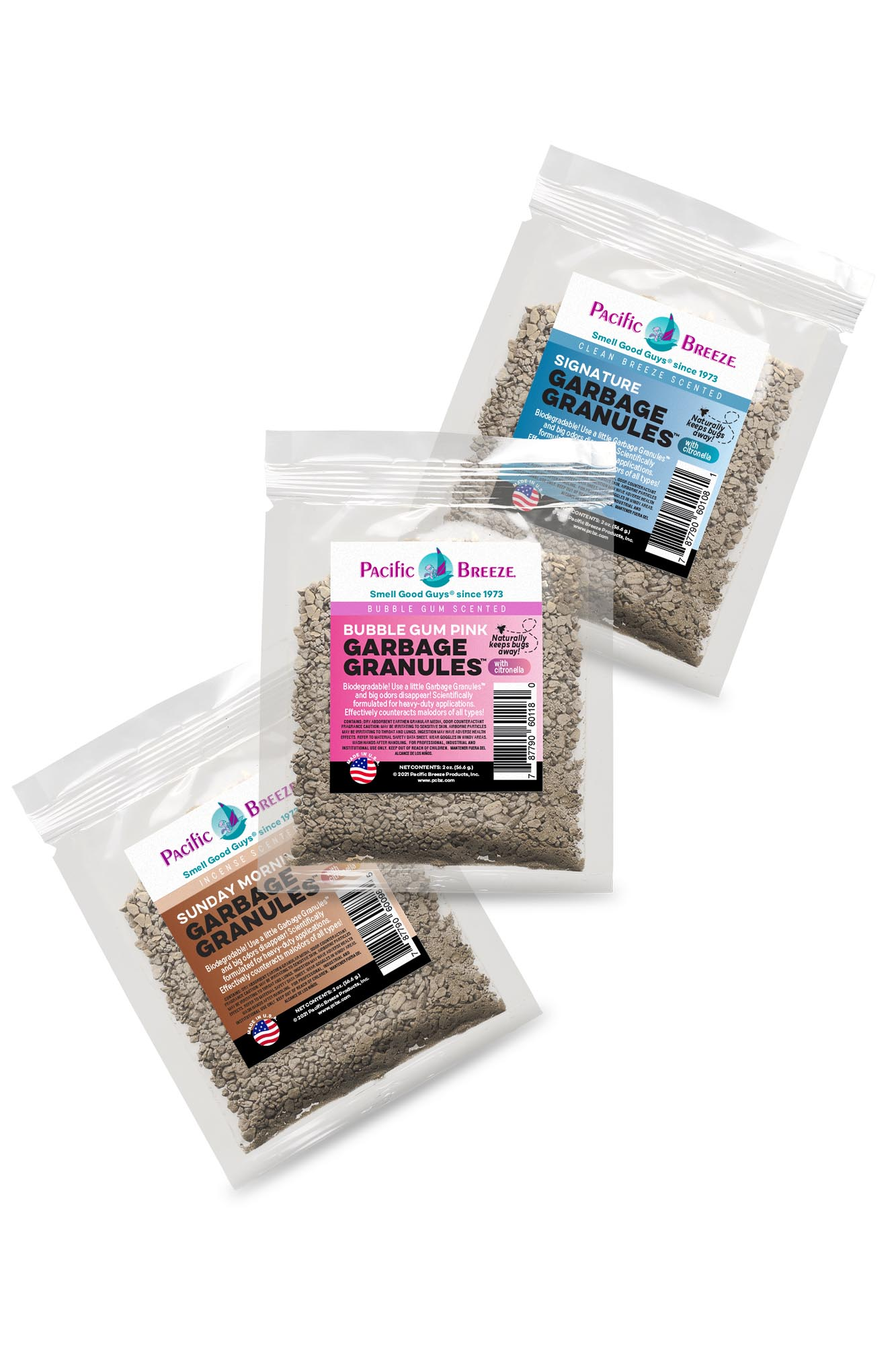 Pacific Breeze Garbage Granules™ Odor Control Packets